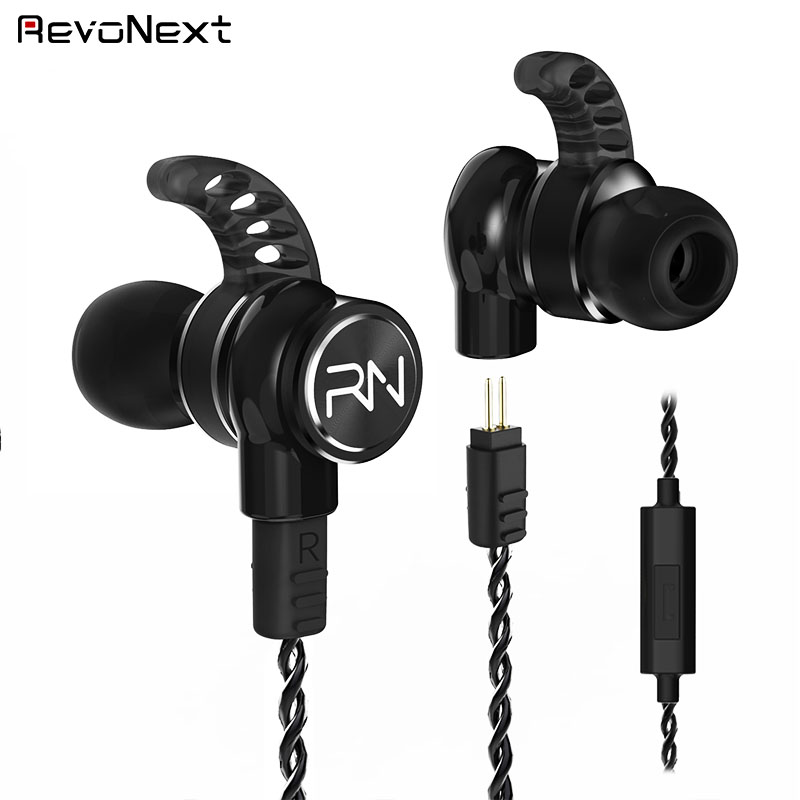 RevoNext stable dual drivers earphones bulk buy for jogging-1