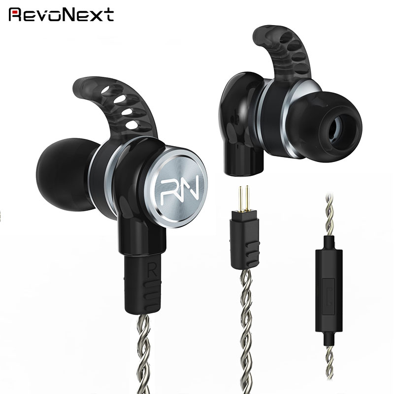 RevoNext stable dual drivers earphones bulk buy for jogging-3