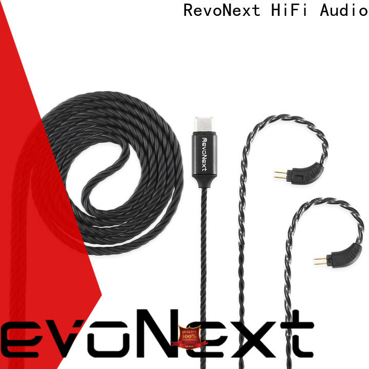 RevoNext silver dual headphone cable manufacturer for headphone