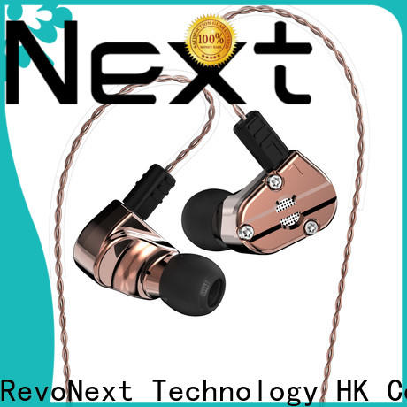RevoNext top quality dual driver in ear headphones from China for jogging