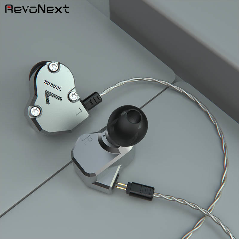 RevoNext customized in ear headphones with mic from China for firness room-3