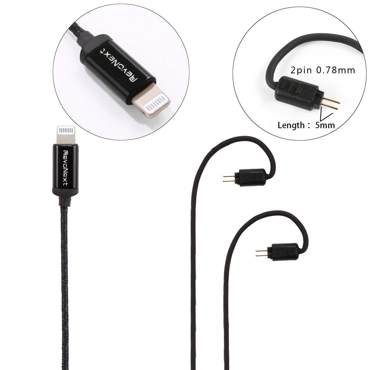 RevoNext top selling lightning cable earphones bulk buy bulk production-5