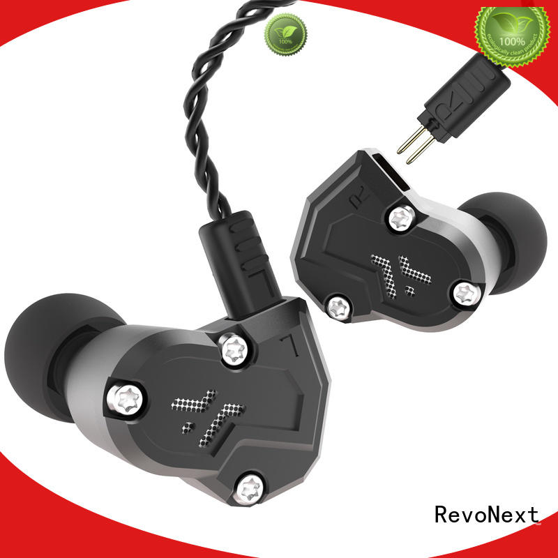 RevoNext sports best in ear headphones with mic noise cancelling for home
