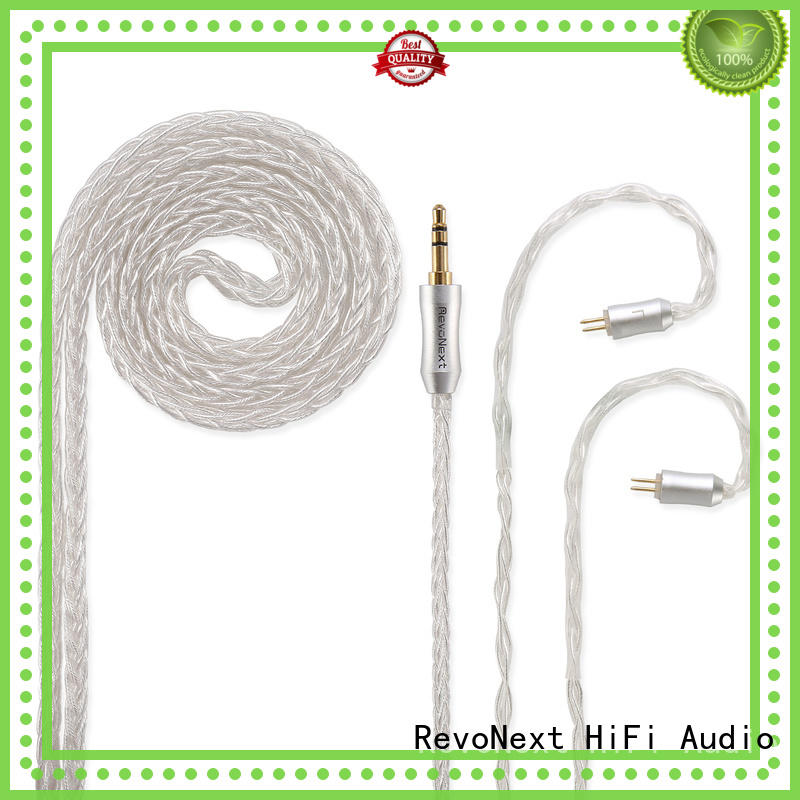 RevoNext detachable 2 pin bluetooth cable supply for earphone
