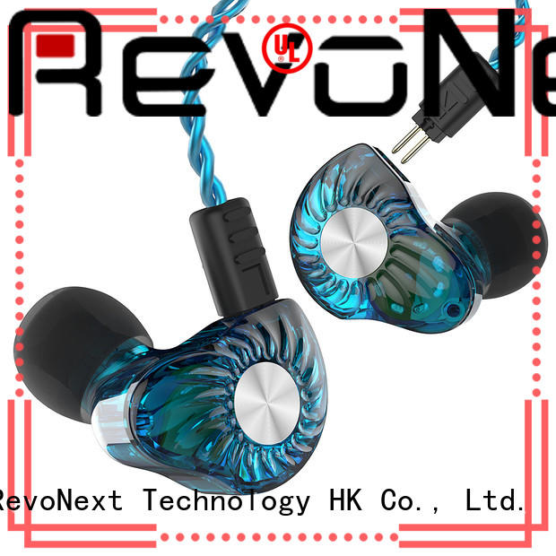 RevoNext earphones best dual driver earphones factory price for firness room