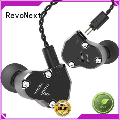 RevoNext comfortable wear in ear headphones with mic in ear monitor for office